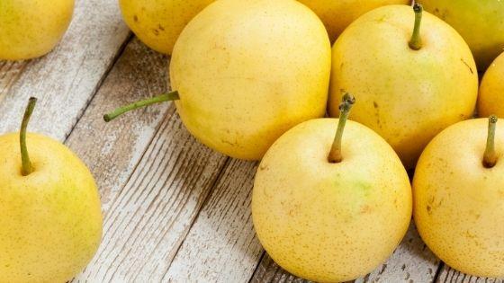 Asian Pear on table