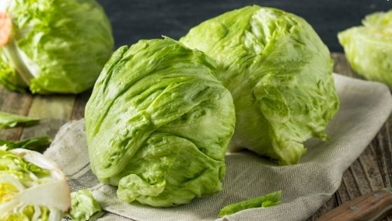 Lettuce on a table